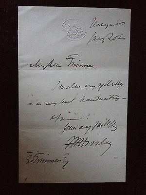 Thomas Henry Huxley - English Biologist - Excellent Hand Written & Signed Letter
