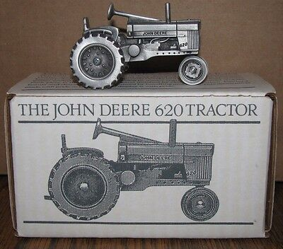 John Deere 620 Pewter Tractor Spec Cast Toy JDM015 Historic Collection jd nf