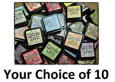 10 Tim Holtz Distress Ink Full Size Pads Pad - Available Colours in Description