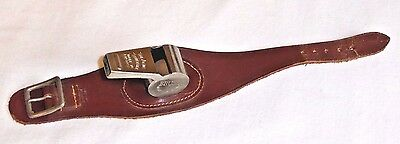 Vintage Acme Thunderer Bruno Whistle, Made In England, Leather Wrist Strap