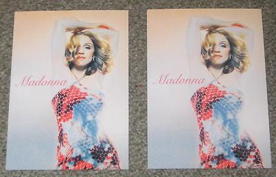 Madonna JAPAN promo only postcard x 2 set UNUSED Music 2000