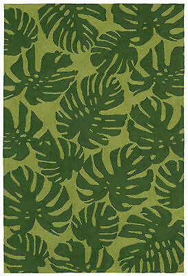 """Area Rugs - """"island Paradise"""" Tropical Palm Fronds Rug -  Indoor Outdoor Rug"""