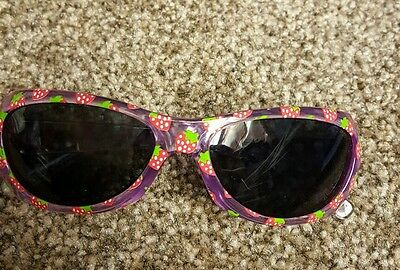 Mini Boden girls Strawberry printed Sunglasses. 100% UV protection. Brand new.