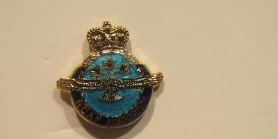 Royal Canadian Air Force RCAF Association Post WWII Sterling & Enamel Tie Pin