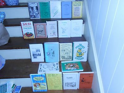 Huge Lot Of 38 Spiral Bound Vintage Community Cook Books *churches Schools Clubs