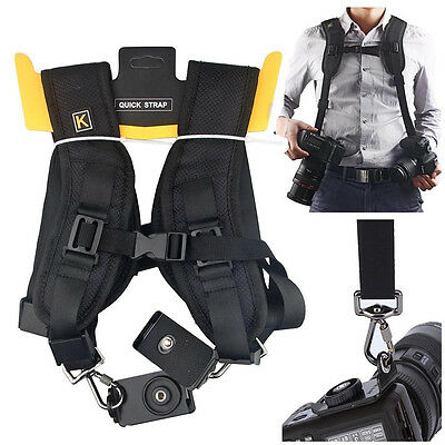 Adjustable Straps Double/Single Shoulder Black Rapid Quick Digital Camera Strap