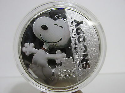 Snoopy Charlie Brown Peanuts Movie Promo Character Collector Coin 2015