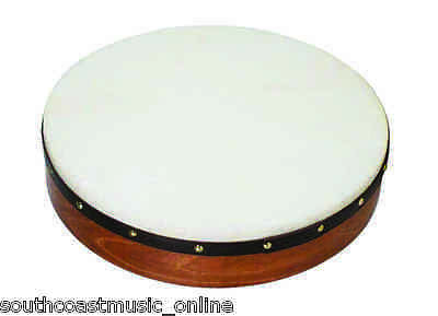 WALTONS 18 INCH DWP19418 BODHRAN IRISH DRUM GOAT SKIN w BEATER - DVD & GIG BAG