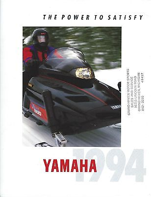 Snowmobile Brochure - Yamaha - Product Line Overview - 1994 (SN14)