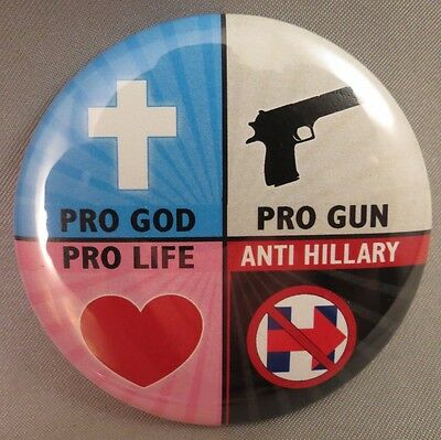 Wholesale Lot Of 12 Pro God Guns Life Anti Hillary Buttons Clinton Trump 2016 $
