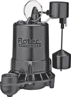 New Flotec E50Vlt 1/2 Hp 80Gpm Cast Iron Submersible Sump Pump Sale 8840894