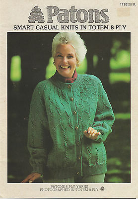 Women's Classic Knits in 8Ply - Patons 1110 ~ Pattern Book