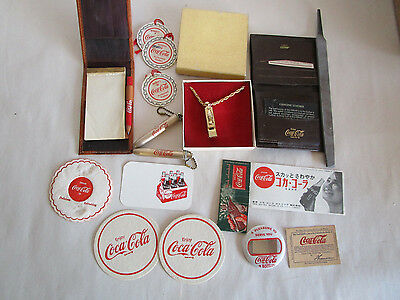 16 Coca-Cola Collectible Items Whistle, Wallet, Flashlight Plus More
