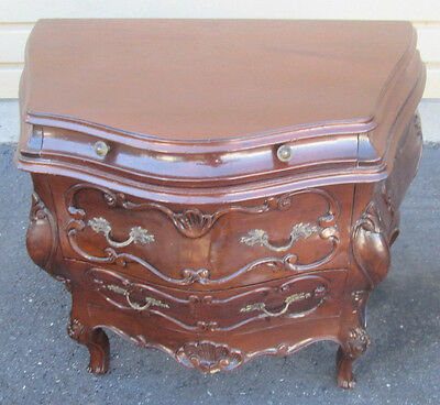 56154 Carved French Dresser Chest with Bombe Sides ITALY