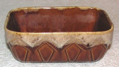 BRUSH POTTERY BROWN DRIP PLANTER--NO. A107-7--BRUSH-McCOY POTTERY