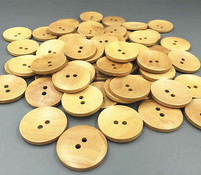 DIY Wooden buttons 2-holes sewing scrapbooking crafts Coat accessories 35mm