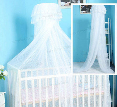 Hanging Dome Baby Toddler Mosquito Net Nursery Cot Bed Canopy Crib Cradle