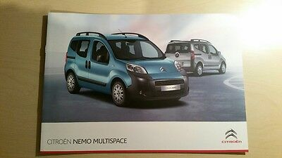 Citroen Nemo Multispace Brochure Nov 2011 (2012 MY)(Manual/EGC)