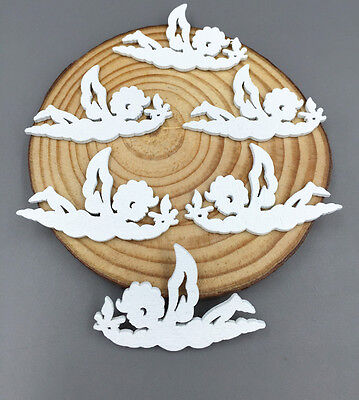 DIY 25/50/100 Wooden lovely fly White angel Scrapbooking decoration crafts 40mm