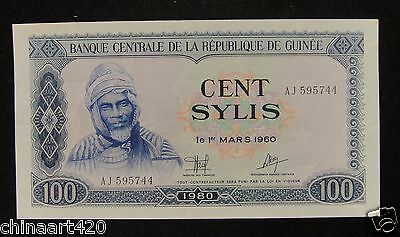 AFRICA GUINEA 100 Sylis Banknote 1980 Almost Uncirculated, AJ595744
