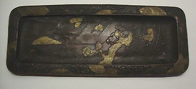 Antique Japanese Meiji period antimony dish
