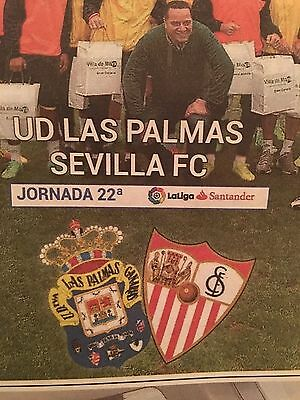 Las Palmas v Sevilla Sunday 12 Feb 2017 Programme full colour 24 pages