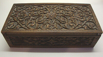 Antique Asian hand carved trinket box