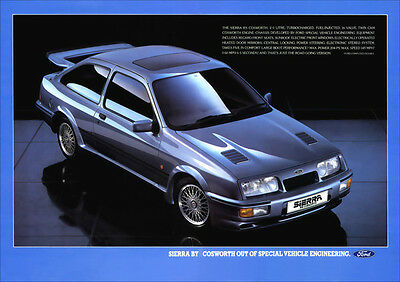 Ford Sierra Rs Cosworth Retro A3 Poster Print From Classic 80's Advert