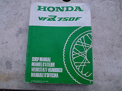 Honda Vfr750F Vfr750 F Workshop Service Manual 1986 G