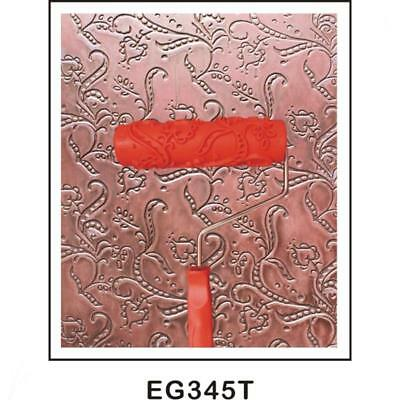 """7"""" Pea Vine Pattern Embossing Paint Roller Painting Brush Wall Decor Tool"""