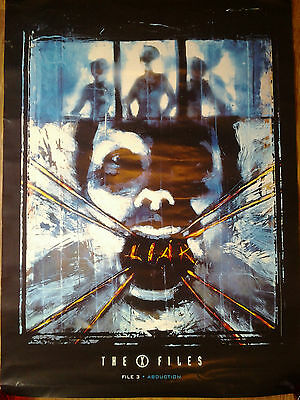 The X-Files File 3 Abduction Promotional Display Poster (59 x 84 cm) - rare