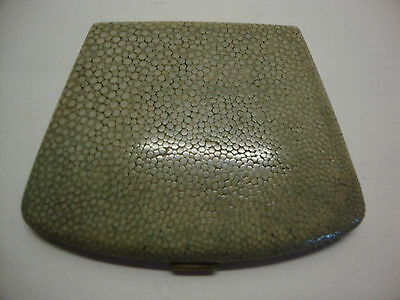 1920s shagreen covered ladies powder compact made in England