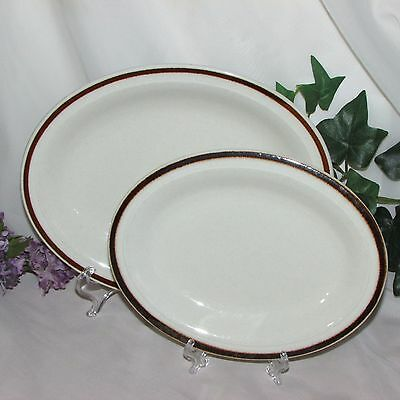 Royal Doulton Country Club Platters 2 Brown Band Steelite Hotelware Restaurant