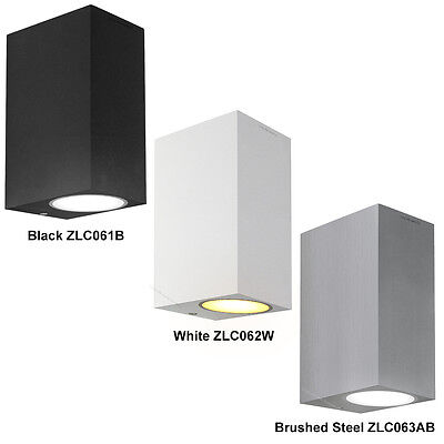 Modern LED Up & Down Rectangular Outdoor Wall Light 8W 10W 12W Stainless Steel