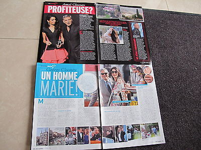 George,amal Clooney French Clippings