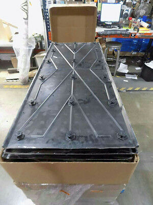 Lot Of 10 2' x 5' Access Tile Cast In Place Replaceable Tactile System-Black
