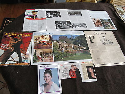 Rare French Us Clippings Of Carrie Fisher