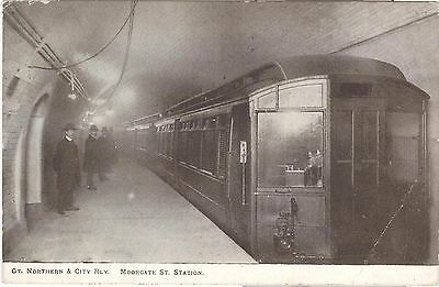 Gt. Northern & City Railway. Moorgate St. Station. London Underground, early