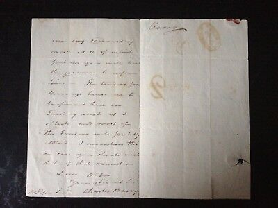 Charles Barry - Architect Of Houses Of Parliament - 2 Page Hand Written & Signed