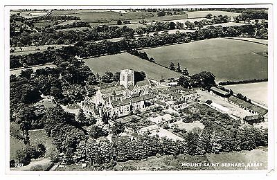 Aerial Real Photo Postcard - Mount Saint Bernard Abbey Coalville Leicestershire