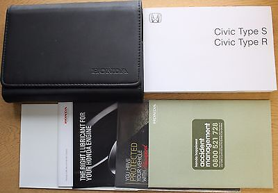 Honda Civic Type S And R Owners Manual Handbook Wallet 2007-2010 Pack 12389