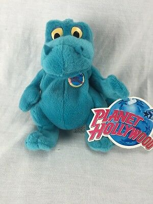 NWT Planet Hollywood Bubba 1997 Stuffed Plush Beanie Bean Bag Dinosaur Dragon 5""