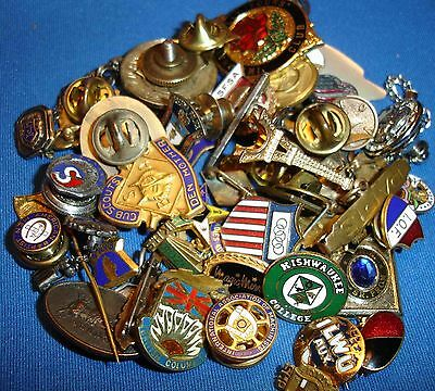 Lot of 50 Pins & Mini Badges:Fraternal,Business Lodge,Sports,Education +++