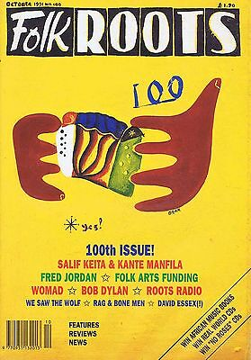 SALIF KEITA & KANTE MANFILA / FRED JORDAN Folk Roots no. 100 Oct 1991