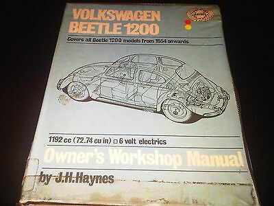 Volkswagen VW Beetle 1200 1954 on Haynes Owners Workshop Manual