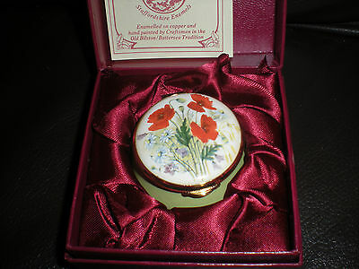 staffordshire enamels box - country diary of edwardian lady - poppies august
