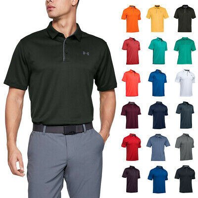 0c12883f Under Armour Mens 2019 UA Golf Tech Wicking Textured Soft Light Polo Shirt