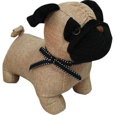 """12"""" Pug Door Stopper Sturdy Fabric Novelty Design Stop Gift Home Accessory"""