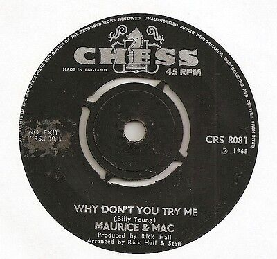 """Uk Chess  Maurice & Mac """"why Don't You Try Me"""" Vg+"""