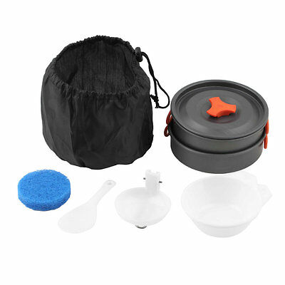Outdoor Camping Cooking Set Non-stick Outdoor Cookware Picnic Pot Pan Bowl SYW